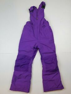LANDS END Kids Girls Purple SQUALL Snow Pants Size 7 Grow a Longs