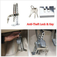 Stainless Steel Anti-Theft Security Lock Auto Car Clutch/Brake Lock 8 Hole+ Key