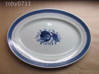 "ROYAL COPENHAGEN BLUE TRANQUEBAR WIDE BAND 15"" OVAL PLATTER (Ref2610)"