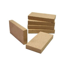 Set di 4 camino, da forno per pizza, barbecue, stufa vermiculite mattoni 230x114x25 mm