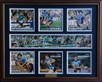 New CRONULLA SHARKS LEGENDS Memorabilia Limited Edition Framed Comes With COL