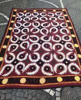 Vintage suzani handmade bedcover, large sizes blankets, wall hanging textiles