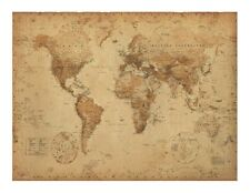 Old World Map Edible Icing image for 1/4 sheet cake