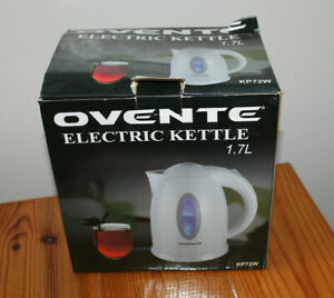 Ovente Electric White Hot Water Kettle 1.7 Liter, KP72W Series