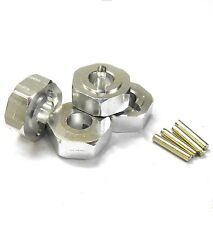L176S 1/8 Scale Buggy M14 14mm Drive Hex Hub Wheel Adapter Alloy Silver x 4 6mm