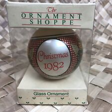 1982 Vintage Glass May Every Song of Christmas Fill Your Heart w Joy Ornament
