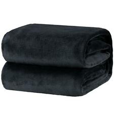 Bedsure Fleece Blanket King Size Dark Grey Lightweight Super Soft Cozy Luxury