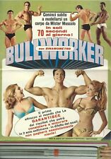 Depliant Bullworker Cassius Clay (Mohammed Alì) Eddy Merckx 1960 c.a Culturismo