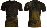 Archaic AFFLICTION Mens T-Shirt TEMPRA Abstract Wings Tattoo Biker M-4XL $40