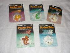Lot of 5 VHTF Vintage TOMY Parker Brothers Pocket Pets Wind Up Walking Toys MIP