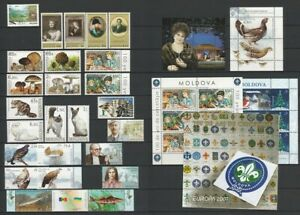 Moldova 2007 Complete year set MNH stamps, blocks, sheets and booklet