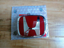 HONDA JDM TYPE R RED FRONT GRILL BADGE EMBLEM CIVIC EP2 EP3 FACELIFT 2004-05 FD
