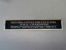 2015-16 Cleveland Cavaliers Nameplate For A Signed Basketball Photo 1.5 X 6