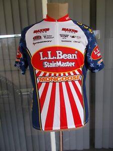 Mens Pearl Izumi L.L. Bean Mongoose Cycling Jersey Shirt Size XL