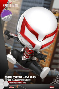 Hot Toys Marvel Cosbaby COSB770 Spider-Man 2099 White Suit Bobble Head Collecte