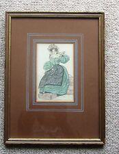 "Victorian Fashion Print ""Morning Dress"" Framed and Glazed"