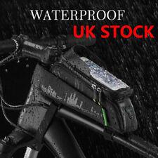 ROCKBROS Bike Top Tube Bag Phone Holder Waterproof For Phone Blew 6.0'' UK STOCK