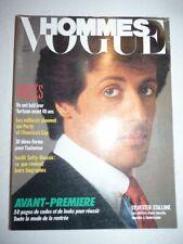 Magazine mode fashion VOGUE HOMMES #92 septembre 1986 Sylvester Stallone