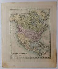 Amérique du Nord North America carte map National Atlas 1838