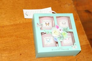 Heart Of Gold Luxury Candle Gift Set For MUM 4 Floral Scented Candles in Box