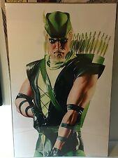 "2000 Alex Ross Green Arrow Poster 22"" x 34"" - Estate Listing"