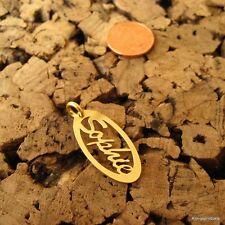 * Sophie * Namensanhänger in 925er Silber vergoldet, Namenskette, Anhänger, NEU