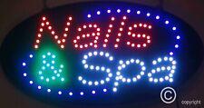 Flashing Nails & Spa led new window Shop signs