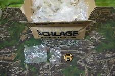 "Schlage Replacement Strike Plate 250 pc Circular 1 3/4""  Brass # 10-058 + screws"