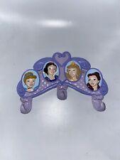 Disney Princess 3 Hook Coat Hanger Rack Kids Purple Room Decor Wall Hook