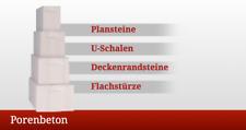 12 Paletten Plansteine PP2/0,4 - 5,5 x 17 x 50 cm / 293,76 m² Porenbeton