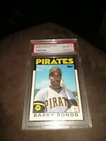 1986 Topps Traded Barry Bonds RC PSA 8