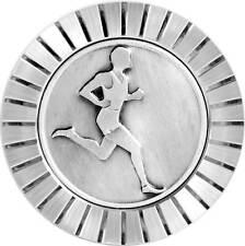 Marathon Läufer Jogger Kühlergrill Relief Metall Plakette Medaille + Halterung