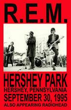 R.E.M. Replica *Hershey Park* 1995 Concert Poster
