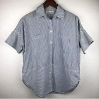 Madewell Women's Daily Shirt in Stripe Sz XXS (Oversized)    09B2420