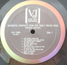 WONDERFUL MEMORIES FROM THE FAMILY PRAYER BOOK US PRES VEE JAY REC. VJ 5066 EX++