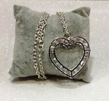 Valentine Necklace Pendant Heart and Crystals Necklace Heart Jewelry