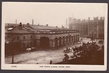 Postcard York Yorkshire the Railway Station and Hotel sent 1925 RP WHS Kingsway