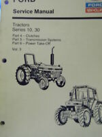 Ford New Holland Tractor Series 10, 30 Vol. 3 Service Manual 2600  8210 Tractors