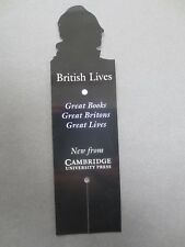 BOOKMARK Cambridge University Press Shaped Diecut Head British Lives Promotional
