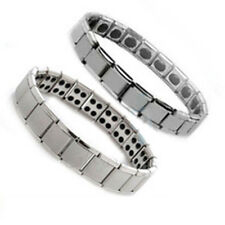 Nano Energy, Magnetic,Titanium, Germanium,Ajustable Bracelet Pain Relief Silver