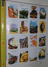 RARE PLANCHE N°89 23 X 32 CHROMOS ECOLE VOLUMETRIX 1959 FEU SOUTERRAIN VOLCANS