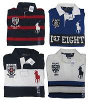 Polo Ralph Lauren Mens Slim Custom Fit Big Pony 1926 Shield Crest Striped Shirt