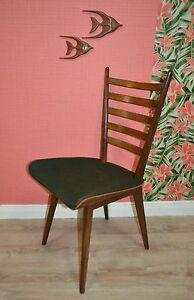 Vintage sixties Stuhl Danish design Eßzimmerstuhl teak dunkelgrün Chair LETZTER
