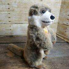 Vintage 90s Steiff Begging Meirkat Prairie Dog 070464 Meerkat w/ Tags