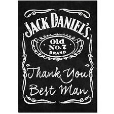Thank you Best Man chalk Whiskey bottle label sticker wedding gift keepsake
