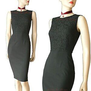 DOLCE & GABBANA vintage uniform black lace pinup 1950s DRESS size UK 4 US 0 I 36