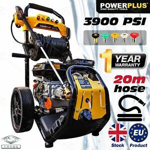 Petrol Pressure Washer - 3900PSI / 270BAR Power Jet Wash EU product