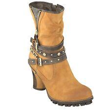 1141-506-6 Gr 37 Mustang Damen Schuh Musterschuh NEU Gelb Stiefelette