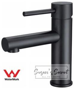 Watermark Wels Bathroom Basin Mixer Tap Round Vanity Brass Faucet matt black