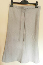 WAREHOUSE UK10 EU38 GREY MARL A-LINE SKIRT WITH 30% WOOL AND ELASTICATED WAIST